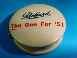 Near Mint PACKARD THE ONE FOR 1951 Old Elkhart IN Celluloid Tape Measure sign