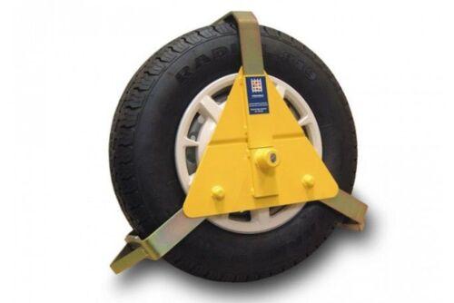 "Stronghold heavy duty wheel clamp for 10/""-14/"" wheels SH5434 car caravan trailer"