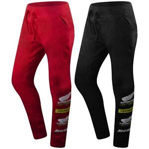 New-Men-Honda-Racing-Jogger-Pants-Slim-Fitted-Black-Red-Sizes-S-2XLElastic-Waist
