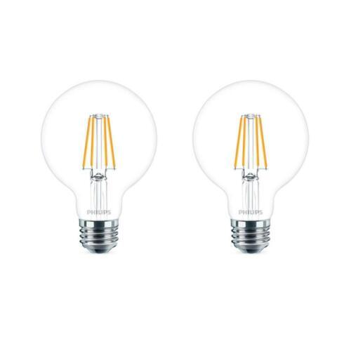 2-Pack Philips 40-Watt Equivalent Daylight G25 Dimmable LED Light Bulb