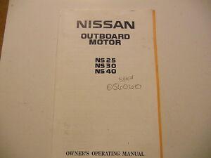 nissan outboard motor repair manual