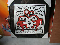 Keith Haring - Pretzel Men - Art - Framed - Nice