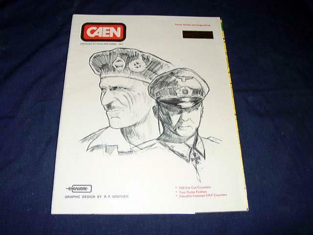 Excalibre giocos 1977 - CAEN - France Panzer Battles &  Sieges Series (UNPUNCHED)  vendita di offerte