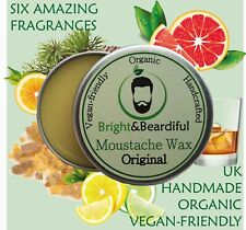 Beard & Moustache Wax Strong Hold Styling, Taming, Twists, Curls, Handlebar 15ml