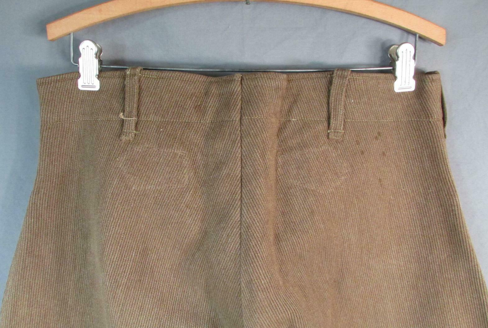Vintage 1910s Wool Whipcord Riding Pants WWI Mili… - image 8