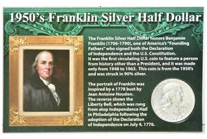 First-Commemorative-Mint-1950-039-S-Franklin-Silver-Half-Dollar