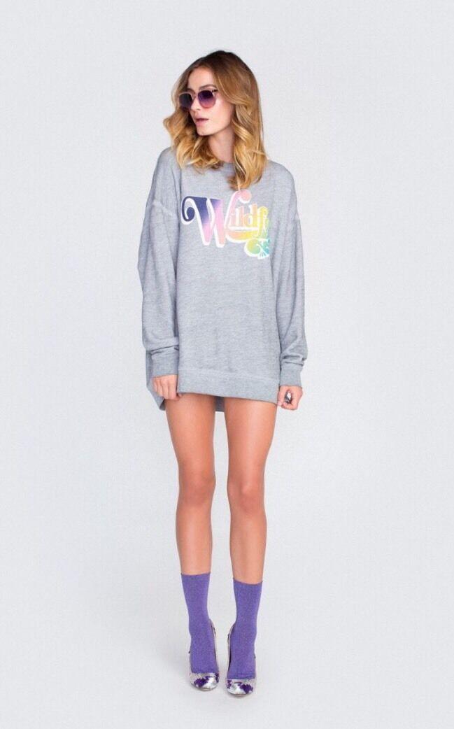 Wildfox Vintage Rainbow Roadtrip Sweater NWOT Sz Small ✨