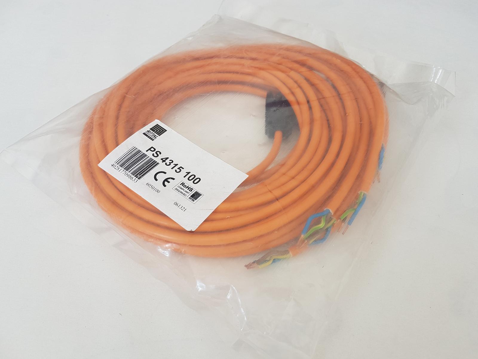 Anschlussleitung 1 Stück - #4014 orange SZ4315.100 Rittal -