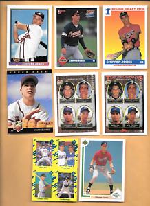 1991 Score #671 Chipper Jones Rookie & 7 Chipper Jones RC. Atlanta Braves Cards