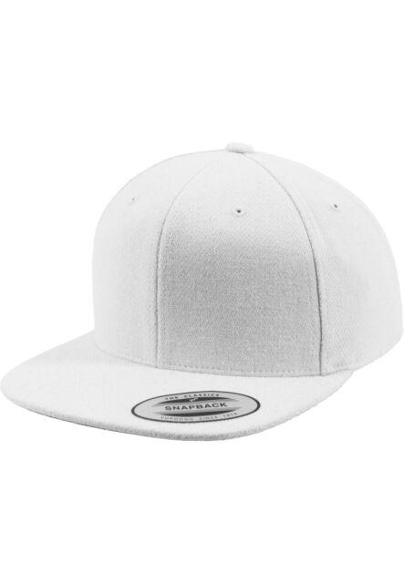 Melton Wool Snapback Urban Classics Flexfit Hat White  6af83e87b6fa