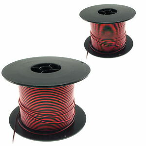 PVC-2-way-Light-Duty-Wire-Cable-22-amp-26-AWG-Flat-UK-Seller