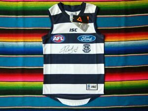 Signed-JIMMY-BARTEL-Geelong-Cats-AFL-Guernsey-COA-Jersey-Jumper
