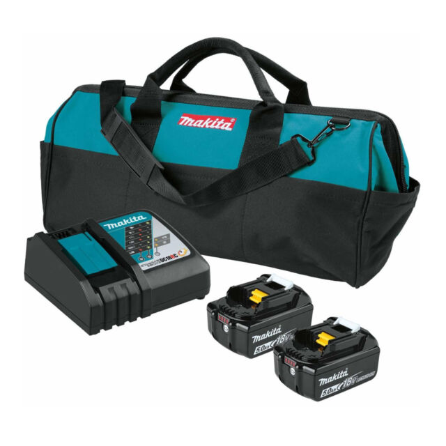 Makita BL1850BDC2X 18V Lithium-Ion Battery and Optimum Charger Starter Pack