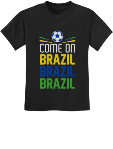 Come On Brazil Soccer Fans Youth Kids T-Shirt Team
