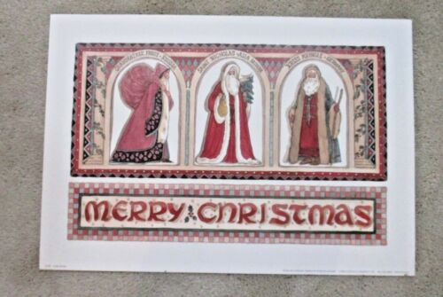 New Merry Christmas Old World Santa Print Marilyn Gandre Russia Asia Germany