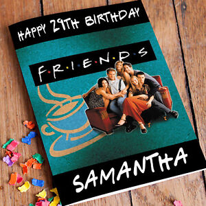 Image Is Loading FRIENDS TV SHOW Personalised Birthday Card FREE Shipping