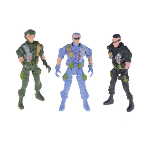1pc 9cm Paratroopers Parachute Soldiers Miniatures Military Figures Model Toy WR