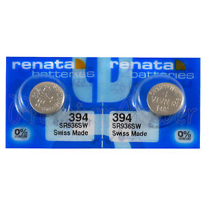2-x-Renata-394-Silver-oxide-batteries-1-55V-SR936W-SR45-V394-Watch-0-Mercury