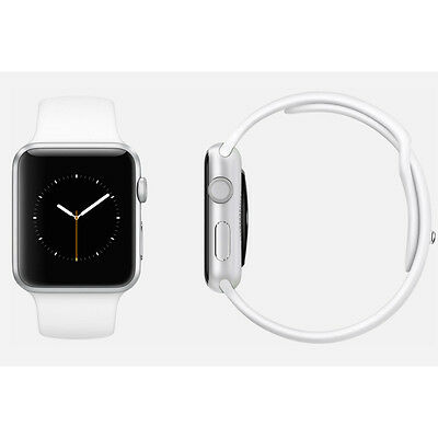 Apple Watch Sport 42mm Silver Aluminium Case White Sport Band