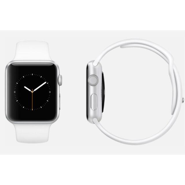 info for 8b9cf b80ea Apple Watch Sport 42mm Silver Aluminium Case White Sport Band - (MJ3N2B/A)