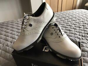 FootJoy-Men-039-s-Dryjoys-Tour-Golf-Shoes-White-53673K-UK-8-5M