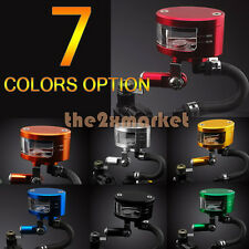7 Color Universal Brake Tank Oil Fluid Master Cylinder Reservoir With Bracket US