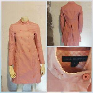 Forbindelse Laks 2 Pink Jacket Twill Coat Fransk Cotton Sz OqvdzwOX6