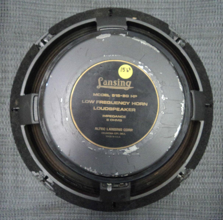 ALTEC LANSING 515-8GHP 16  LF WOOFER SPEAKER 8-OHM 15B