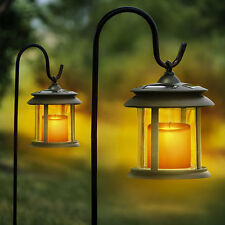 Solmar Flicker Candle Solar Lantern LED Pathway Lights - 4 Pack