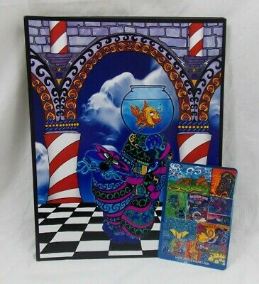 Phil Lewis Psychedelic Festival Art The Joker Cheshire Cat Alice In Wonderland Ebay