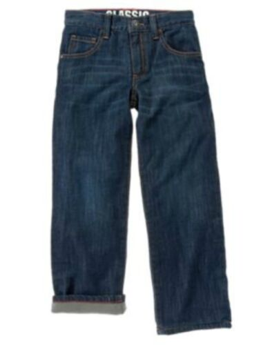 NWT Gymboree KING OF COOL Indigo Blue Denim Microfleece LIned Classic Fit JEANS