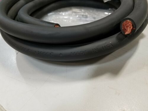 15/' FT 1//0 AWG WELDING//BATTERY CABLE BLACK  600V MADE IN USA COPPER EPDM JACKET