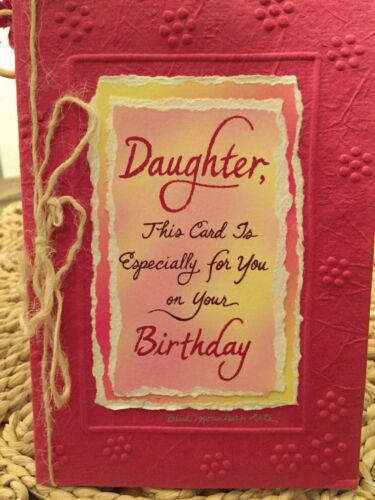 Blue Mountain Arts Sculpted HS Paper Collection Box 3 Daughter mom Birthday Luv