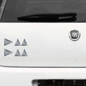 2-Tattoo-Sticker-Silver-15cm-Delta-Symbol-Car-Decorative-Film-Depeche-Mode
