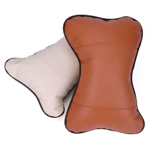 Upscale General Leather Auto Car Seat Head Neck Rest Cushion Headrest Pillow BS