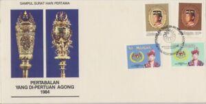 MALAYSIA-1984-Agong-Installation-FDC-unaddressed-JD1209