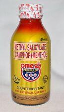 New Latest Stock OMEGA PAIN KILLER Liniment Menthol Large 120ml Fast USA Seller