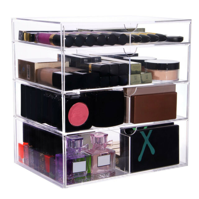 Lifewit Large Beauty Cube 4 Tier Acrylic Cosmetic Box Makeup Organizer  Storage