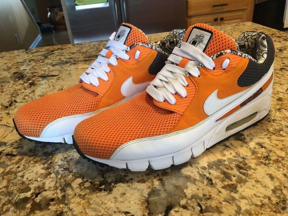 Nike Air Max Ocho 8 Athletic Sneakers Shoes Size 12 Gray Orange White Gray 12 EUC 0ec9a5