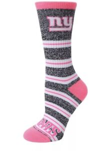 b025a3e3 Details about New York Giants NFL Football Melange Striped Women's Crew  Socks - Medium