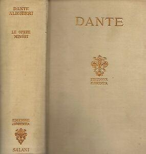 Dante-Alighieri-Dante-Le-opere-minori-1930-Salani