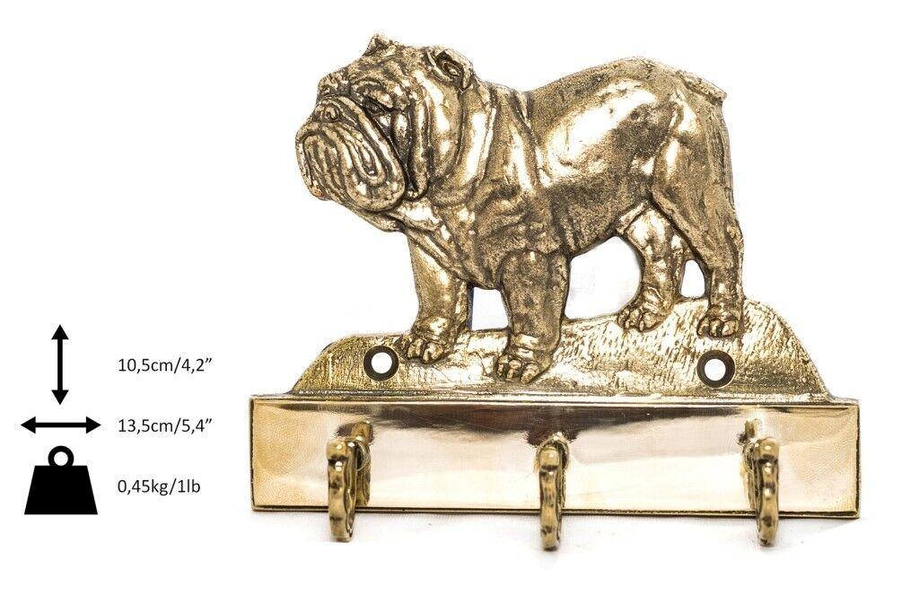English Bulldog - brass hanger with image of a dog, high quality, Art Dog