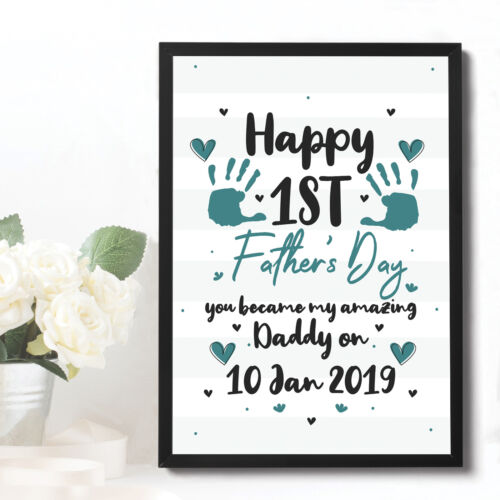 PERSONALISED 1st Fathers Day Gifts Daddy Father To Be Newborn Baby Gifts New Dad