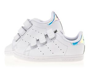 the best attitude 4465d 8a71e adidas Stan Smith CF I White Green Leather Infant Toddler Baby Shoe .