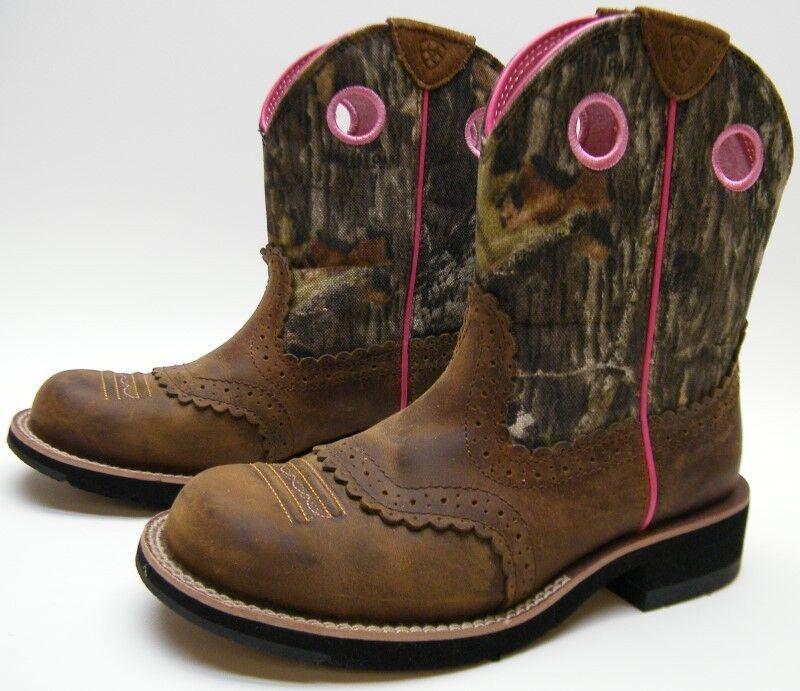Ariat 10006854 WomenS Fatbaby Camoflauge Cowboy Western Pink BROWN 6.51 2 B