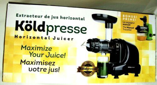 KOLDPRESSE Horizontal Slow Cold Pressed Juicer NEW OPEN BOX Healthy Living