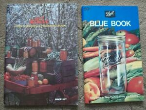 Ball Blue Book AND Kerr Home Canning Freezing LOT Homesteading Preserving Food