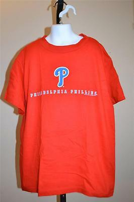 Mlb Philadelphia Phillies Jugendliche M Rotes T-shirt 38se SorgfäLtige FäRbeprozesse 10/12 Neu