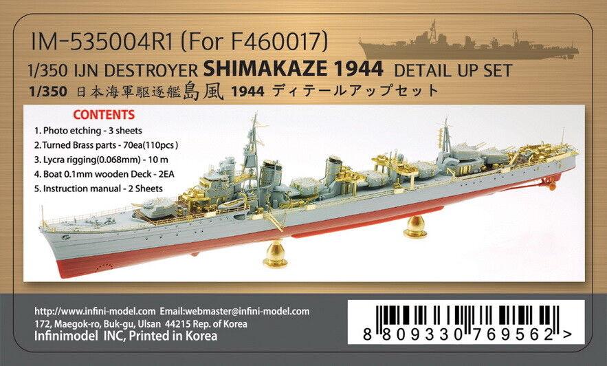Infini 1 350 IJN Destroyer Shimakaze Detail-up Sets for Fujimi kit