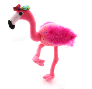 """NEW OFFICIAL 9/"""" SPARKLY CAMILLA THE FLAMINGO WITH GOLD BOW SOFT PLUSH TOY"""